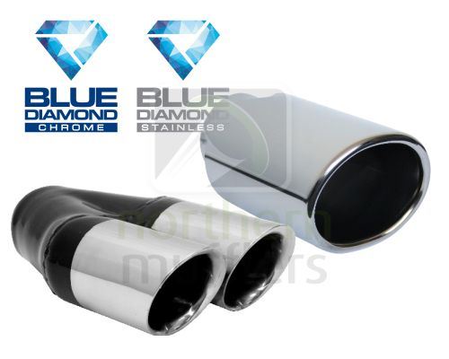 Blue Diamond Chrome Tips
