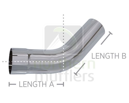 Chrome Plated Bends - Standard Radius - Plain/Expanded - 45º