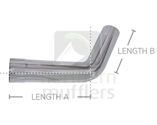 Chrome Plated Bends - Tight Radius - Plain/Expanded - 60°