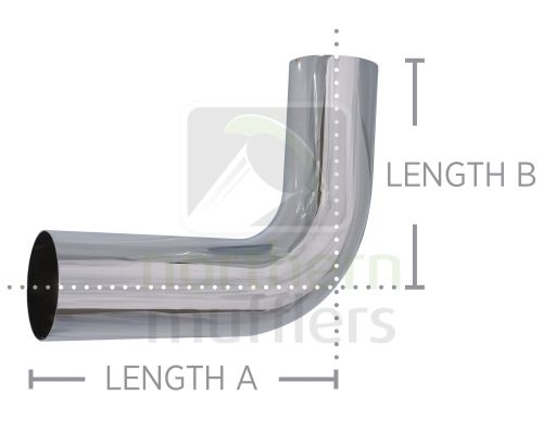 Chrome Plated Bends - Tight Radius - Plain/Plain - 90º