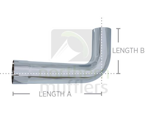 Chrome Plated Bends - Tight Radius - Plain/Expanded - 90°