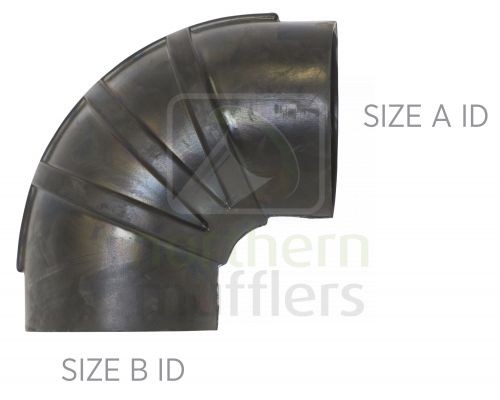 90° Rubber Elbows - Large