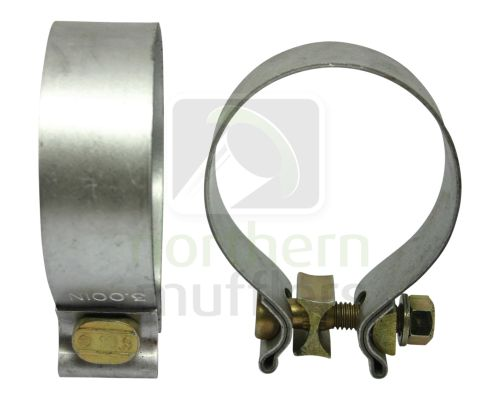 Aluminised Single Bolt Clamps - Mid-Range
