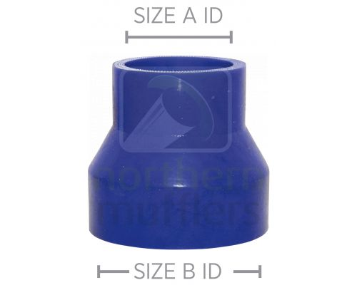 Blue Silicone 4 Ply - Straight Reducers
